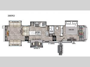 Cedar Creek Champagne Edition 38ERD Floorplan Image