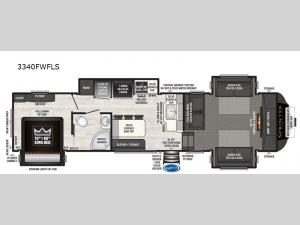 Sprinter 3340FWFLS Floorplan Image
