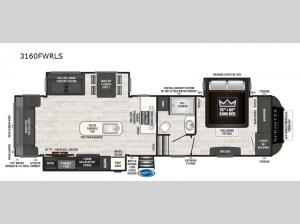 Sprinter 3160FWRLS Floorplan Image