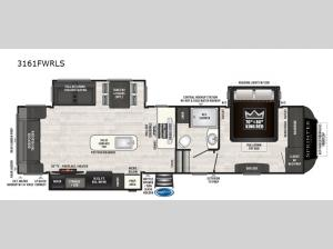 Sprinter 3161FWRLS Floorplan Image