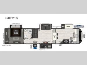 Sprinter 3610FWFKS Floorplan Image