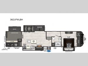 Sprinter 3621FWLBH Floorplan Image