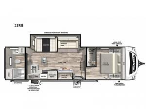 Vibe 28RB Floorplan Image