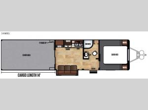 Work and Play FRP Series 34WRS Floorplan Image