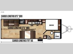 Work and Play Ultra LE 25CB Floorplan Image