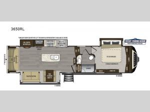 Alpine 3650RL Floorplan Image