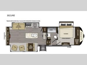 Alpine 3021RE Floorplan Image