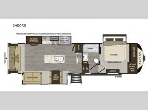 Alpine 3400RS Floorplan Image