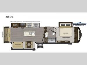 Alpine 3651RL Floorplan Image