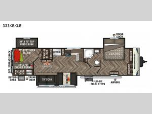 Sportsmen LE 333KBKLE Floorplan Image