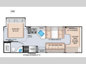 Four Winds 26B Chevy Floorplan Image