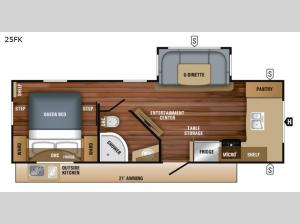 White Hawk 25FK Floorplan Image