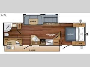 White Hawk 27RB Floorplan Image