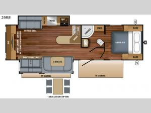 White Hawk 29RE Floorplan Image