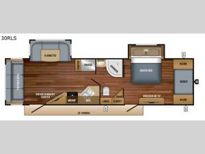 White Hawk 30RLS Floorplan Image