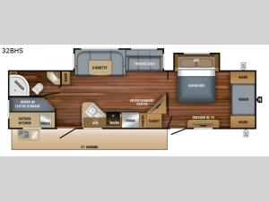 White Hawk 32BHS Floorplan Image