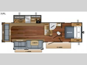 White Hawk 31RL Floorplan Image