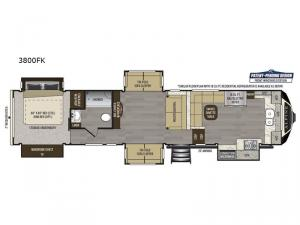 Alpine 3800FK Floorplan Image