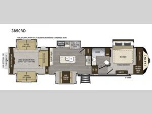 Alpine 3850RD Floorplan Image