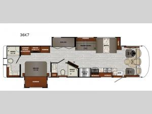 Georgetown 7 Series 36K7 Floorplan Image