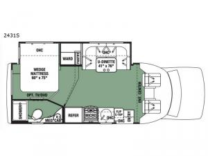 Forester Grand Touring Series 2431S Floorplan Image