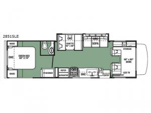 Forester LE 2851SLE Chevy Floorplan Image