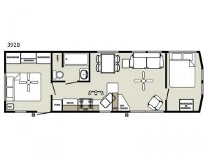 Quailridge Holiday Cottages 392B Floorplan Image