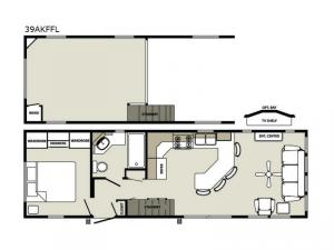 Quailridge Holiday Cottages 39AKFFL Loft Floorplan Image