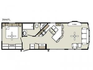 Quailridge Holiday Cottages 39AKFL Floorplan Image