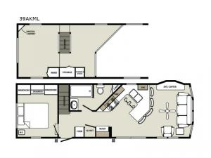 Quailridge Holiday Cottages 39AKML Loft Floorplan Image