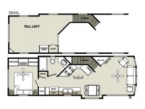 Quailridge Holiday Cottages 39ASL Loft Floorplan Image