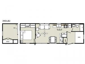 Quailridge Holiday Cottages 39DLB2 Loft Floorplan Image