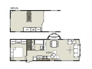 Quailridge Holiday Cottages 39FLML Loft Floorplan Image