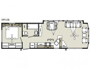 Quailridge Holiday Cottages 39FLSB Floorplan Image