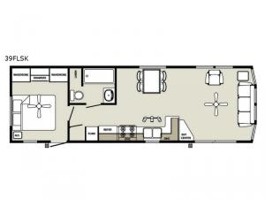 Quailridge Holiday Cottages 39FLSK Floorplan Image