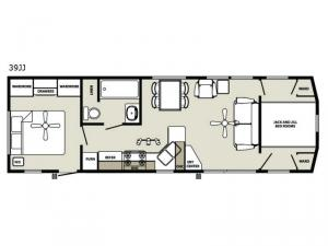 Quailridge Holiday Cottages 39JJ Floorplan Image
