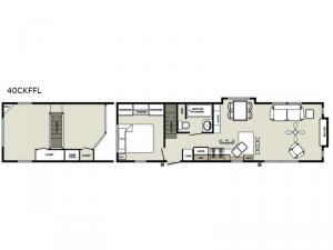 Quailridge Holiday Cottages 40CKFFL Loft Floorplan Image