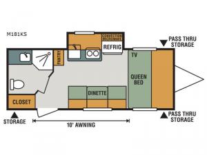 Escape Mini M181KS Floorplan Image