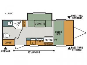Escape Mini M181UD Floorplan Image