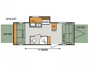 Escape Mini M181KST Floorplan Image