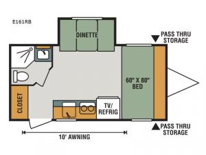 Escape E161RB Floorplan Image