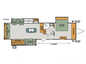 Spree S343RSK Floorplan Image