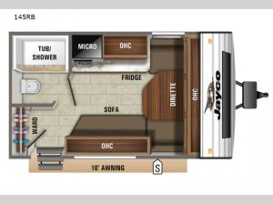 Jay Flight SLX 7 145RB Floorplan Image