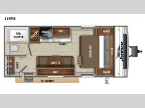 Jay Flight SLX 7 195RB Floorplan Image