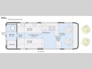 Travato 59KL Floorplan Image