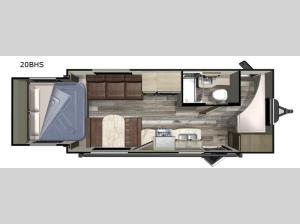 Launch Outfitter 20BHS Floorplan Image