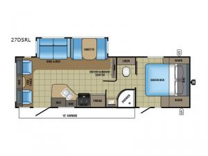White Hawk 27DSRL Floorplan Image