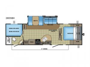White Hawk 28DSBH Floorplan Image
