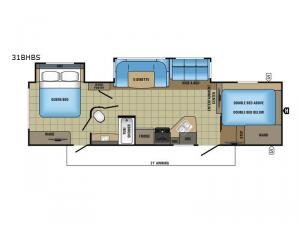 White Hawk 31BHBS Floorplan Image