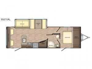 Sunset Trail Super Lite SS271RL Floorplan Image